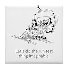 Whitest Thing White Tile Coaster