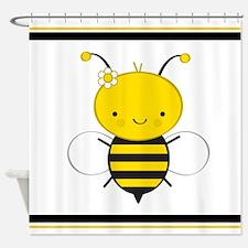 Dancing Honey Bee Shower Curtain