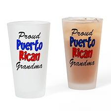Proud Puerto Rican Grandma Drinking Glass