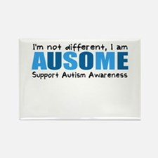 Im not different, I am Ausome! Rectangle Magnet (1