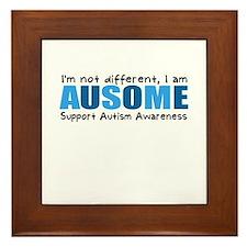Im not different, I am Ausome! Framed Tile