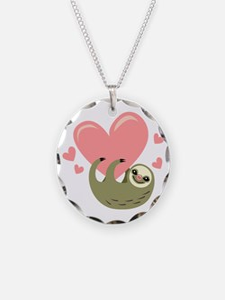 Sloth Circle Necklace