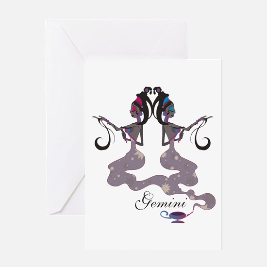 Starlight Gemini Greeting Card