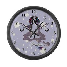 Starlight Gemini Large Wall Clock