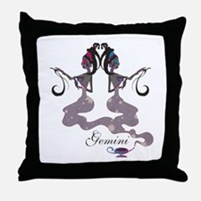 Starlight Gemini Throw Pillow