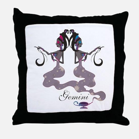Starlight Gemini Throw Pillow