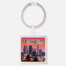 Funny Long beach city Square Keychain