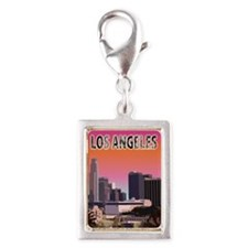 Cute Long beach california Silver Portrait Charm