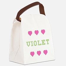 Violet Canvas Lunch Bag