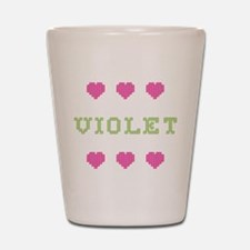 Violet Shot Glass