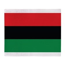 The Red, Black and Green Flag Throw Blanket