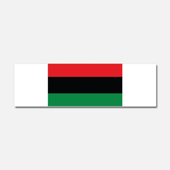 The Red, Black and Green Flag Car Magnet 10 x 3