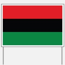 The Red, Black and Green Flag Yard Sign