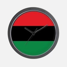The Red, Black and Green Flag Wall Clock