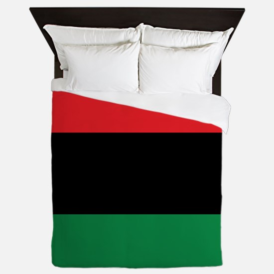 The Red, Black and Green Flag Queen Duvet