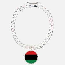The Red, Black and Green Flag Charm Bracelet, One