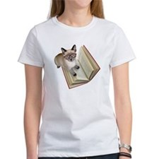 Kitten Reading Book T-Shirt