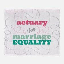 Actuary for Equality Throw Blanket