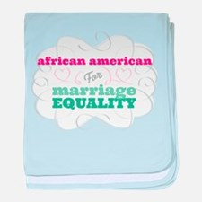 African American for Equality baby blanket
