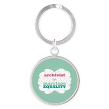 Archivist for Equality Keychains
