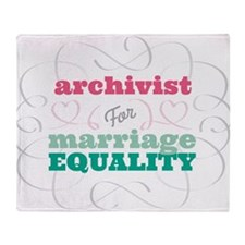 Archivist for Equality Throw Blanket