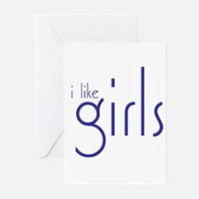I Like Girls Greeting Cards (Pk of 10)
