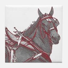 Percheron Horse Tile Coaster