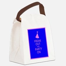 FREAK OUT and PARTY ON Canvas Lunch Bag