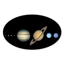 Scale Solar System Decal Astronomy Gift Decal