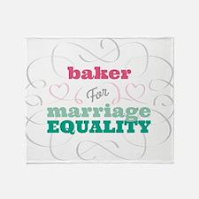 Baker for Equality Throw Blanket