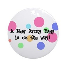 Army Baby on the Way Ornament (Round)