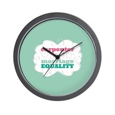 Carpenter for Equality Wall Clock