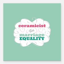 "Catholic for Equality Square Car Magnet 3"" x 3"""