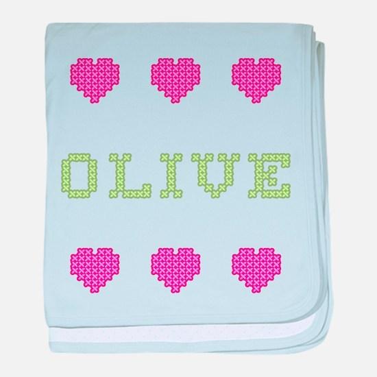 Olive baby blanket