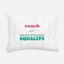 Coach for Equality Rectangular Canvas Pillow