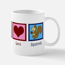 Peace Love Squirrels Mug