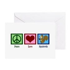 Peace Love Squirrels Greeting Card