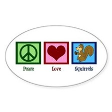 Peace Love Squirrels Decal