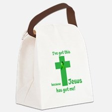 Green Jesus has got me Canvas Lunch Bag