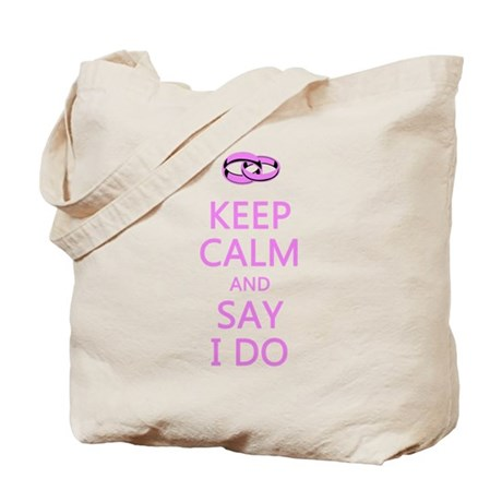 KEEP CALM WEDDING Tote Bag
