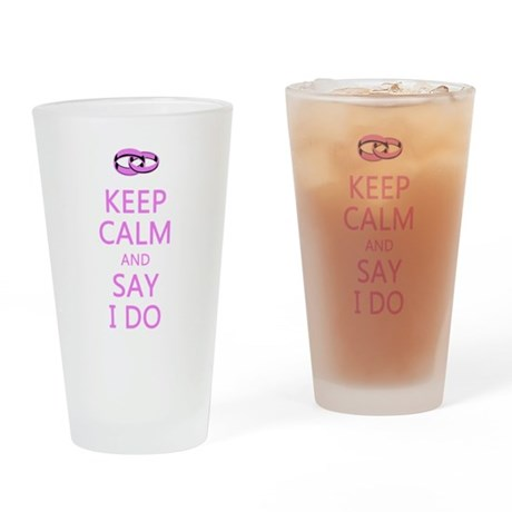 KEEP CALM WEDDING Drinking Glass