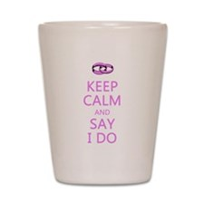 KEEP CALM WEDDING Shot Glass
