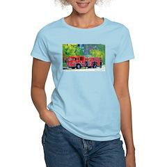 Fire Engine Women's Pink T-Shirt