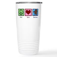 Peace Love Raccoons Travel Mug