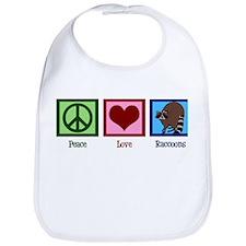 Peace Love Raccoons Bib