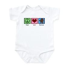 Peace Love Raccoons Infant Bodysuit