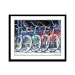 Bicycles Framed Panel Print