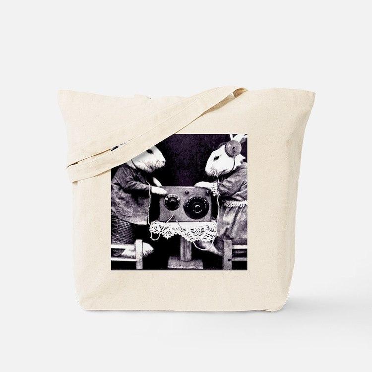 Bunny Radio Tote Bag