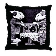 Bunny Radio Throw Pillow