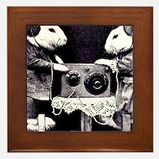 Bunny Radio Framed Tile